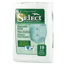 Tranquility Select Disposable Briefs Small