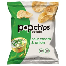 Popped Chip Snacks, Sour Cream & Onion Potato