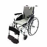 Karman 16 inch Aluminum Wheelchair with Flip-Back Armrests, 29lbs Silver