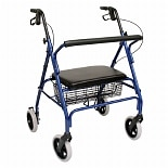 Karman Extra Wide Steel Bariatric Rollator, 20lbs Blue