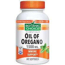 Botanic Choice Oil of Oregano Extract 1500 mg Herbal Supplement Softgels