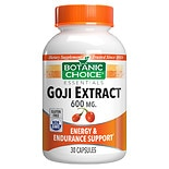 Botanic Choice Goji Extract 600 mg Dietary Supplement Capsules