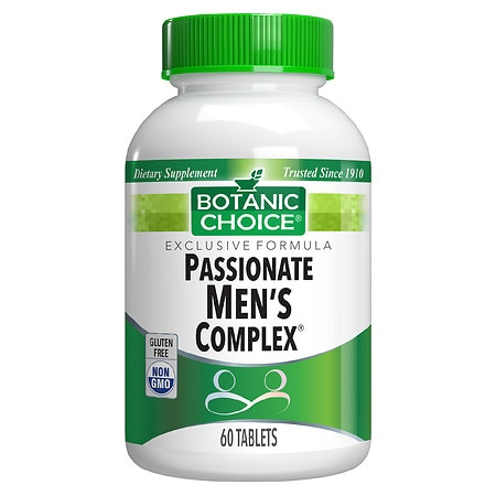 Botanic Choice Passionate Men's Complex Herbal Supplement Tablets