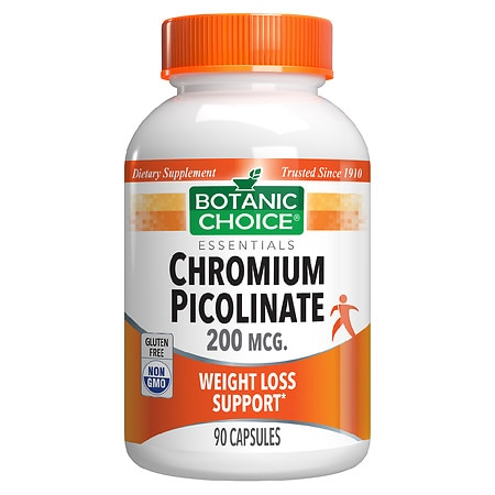 Botanic Choice Chromium Picolinate 200 mcg Dietary Supplement Capsules