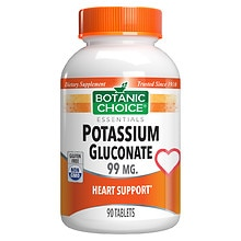 Botanic Choice Potassium 99 mg Dietary Supplement Tablets