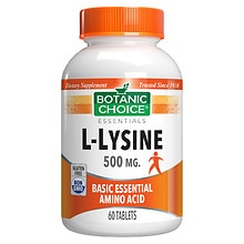 Botanic Choice L-Lysine 500 mg Dietary Supplement Tablets