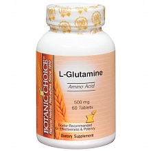 Botanic Choice L-Glutamine 500 mg Dietary Supplement Tablets