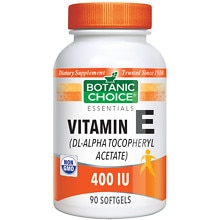 Botanic Choice Vitamin E 400 IU Dietary Supplement Softgels