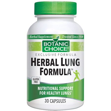 Botanic Choice Herbal Lung Formula Herbal Supplement Capsules