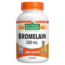 Botanic Choice Bromelain 500 mg Herbal Supplement Capsules