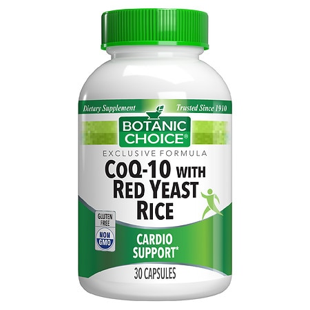 Botanic Choice CoQ-10 with Red Yeast Rice 500 mg Dietary Supplement Softgels