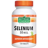 Botanic Choice Selenium 50 mcg Dietary Supplement Tablets