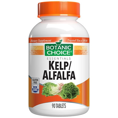 Botanic Choice Kelp/Alfalfa Herbal Supplement Tablets