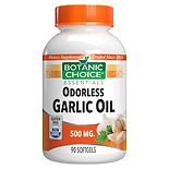 Botanic Choice Odorless Garlic Oil 500 mg Herbal Supplement Softgels