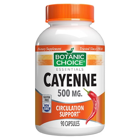 Botanic Choice Cayenne 500 mg Herbal Supplement Capsules