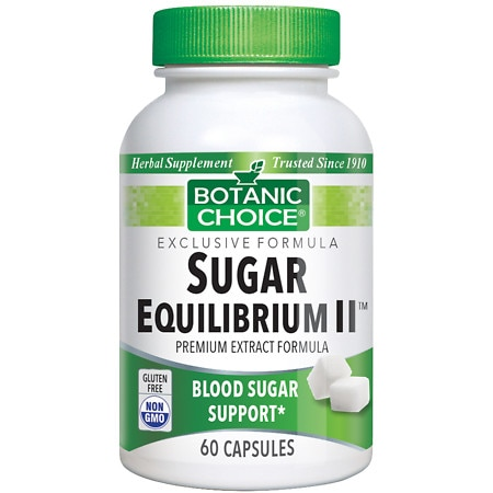 Botanic Choice Sugar Equilibrium II Herbal Supplement Capsules