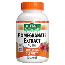 Botanic Choice Pomegranate Extract 40 mg Dietary Supplement Capsules