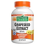Botanic Choice Grapeseed Extract 60 mg Herbal Supplement Capsules