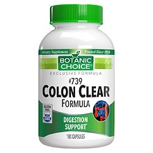 Botanic Choice #739 Colon Cleanse Formula 500 mg Herbal Supplement Capsules