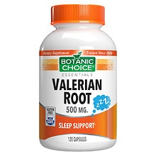 Botanic Choice Valerian Root 500 mg Herbal Supplement Capsules