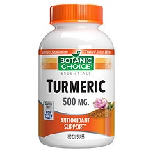 Botanic Choice Turmeric 500 mg Herbal Supplement Capsules