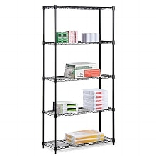 Honey Can Do 5 Tier Black Storage Shelves
