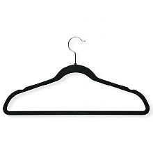 Honey Can Do Velvet Hangers Black, 20pk