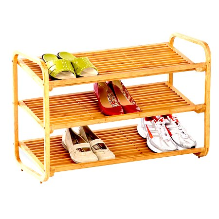 Honey Can Do 3 Tier Bamboo Shoe Shelf