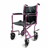 Everest & Jennings Aluminum Transport Chair 17 inch Pink Pink