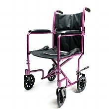 Everest & Jennings Aluminum Transport Chair 17 Inch Pink