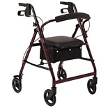Medline Basic Rollator Burgundy