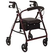 Medline Basic Rollator Red