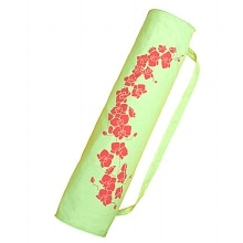 Wai Lana Orchid Tote Soft Green with Coral Print