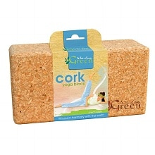 Green Cork Yoga Block