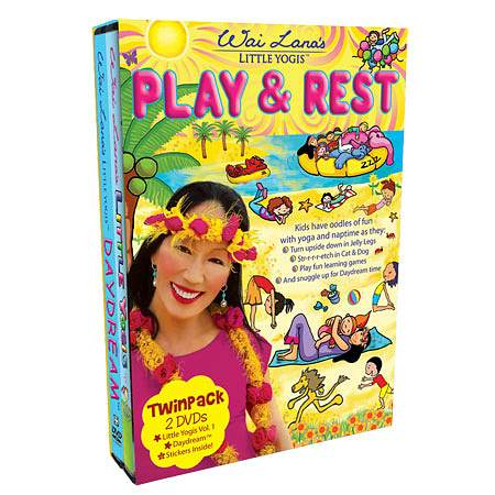 Wai Lana Little Yogis Play and Rest DVD Twin Pack