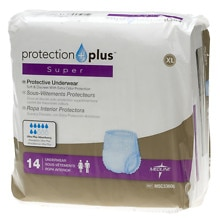 Medline Protection Plus Super Protective Underwear Extra Large