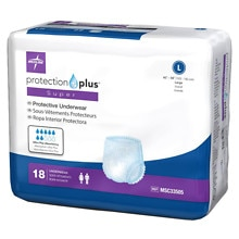 Medline Protection Plus Super Protective Underwear Large
