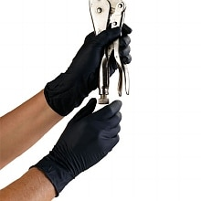 High Five Onyx Nitrile Exam Gloves Case Medium
