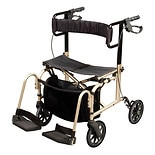 Carex Ultra Ride Rollator/Transport chair
