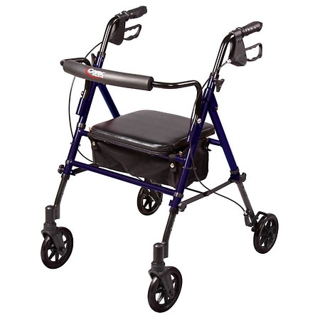 Carex Step & Rest Rollator Blue
