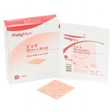PolyMem Non-Adhesive Pad Dressing 3-inch X 3-inch