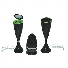 Lentek Twin Multi-Function Speaker Set Black