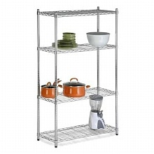 Honey Can Do Storage Shelves, 4 Tier Chrome