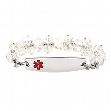 Hope Paige Clear Crystal Medical Bracelet