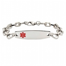 Heart Link Medical ID Bracelet