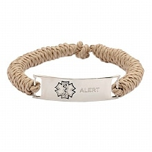 Hope Paige Rope Medical Bracelet Khaki