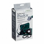 Veridian Healthcare Sterling ProKit Adj. Aneroid Sphygmomanometer w/ Sprague Sthethoscope-Adult Hunter Green