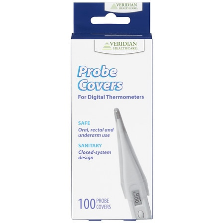 Veridian Healthcare Professional Digital Thermometer Probe Covers, Box of 100