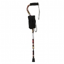 Nova Casino Print Offset Cane with Black Clutch Combo