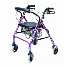 Walkabout Lite 4 Wheel Rollator, Pink